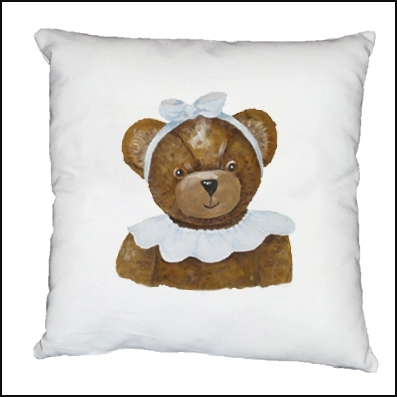 Coussin ours Coralie personnalisable