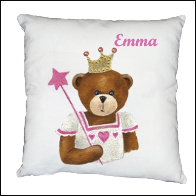 Coussin ours fée Anne personnalisable