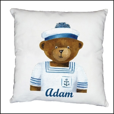 Coussin Ourson marin Christophe personnalisable