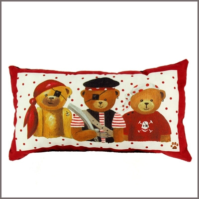 Coussin Ourson pirate rectangle