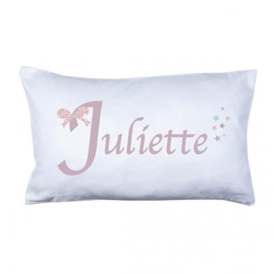 Coussin prénom Noeud Juliette