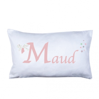 Coussin prénom Noeud Maud