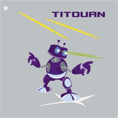 Coussin robot violet