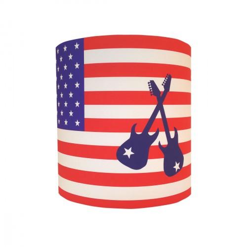 Applique drapeau américain et guitares personnalisable