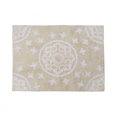 Tapis enfant coton motifs géométriques Duna beige