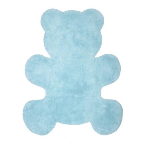 Tapis en coton Little Teddy bleu ciel de Nattiot