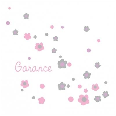 Echantillon Faire part de naissance floral rose