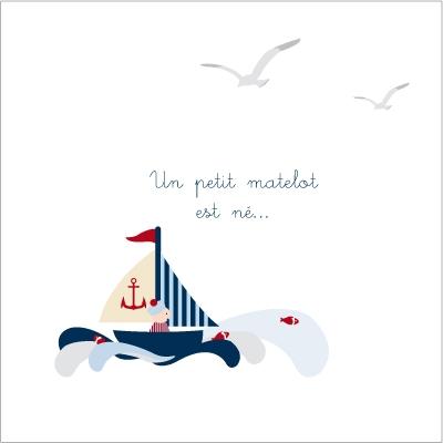 Echantillon Faire part de naissance petit matelot
