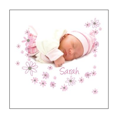 Echantillon Faire part de naissance Sarah