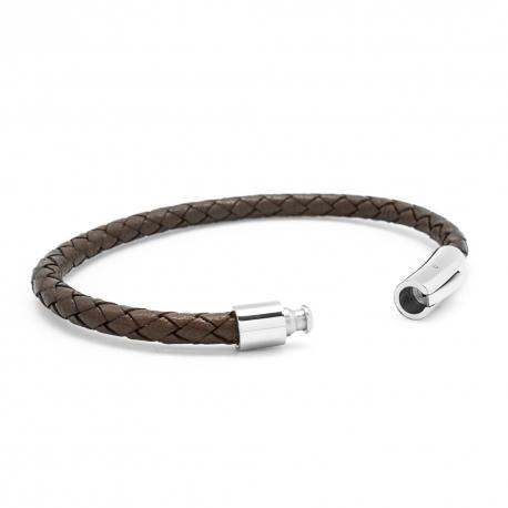 Bracelet L'Epicurien marron - Acier