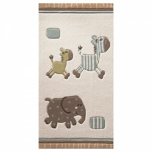 Tapis Lucky Zoo Beige petites tailles