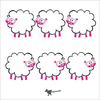 Etiquettes cadeau mouton