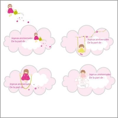 etiquettes anniversaire nuages lili pouce boutique d co chambre b b enfants et cadeaux. Black Bedroom Furniture Sets. Home Design Ideas