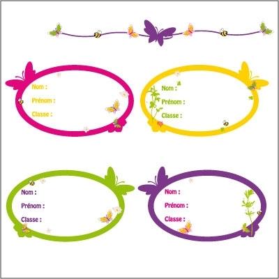 Etiquettes papillons