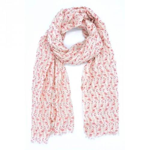 Foulard flamant rose