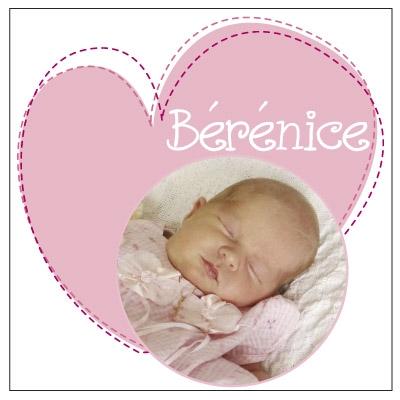 Faire part coeur Bérénice