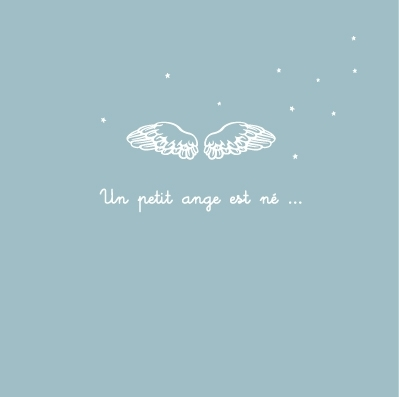 Faire part de naissance ange bleu