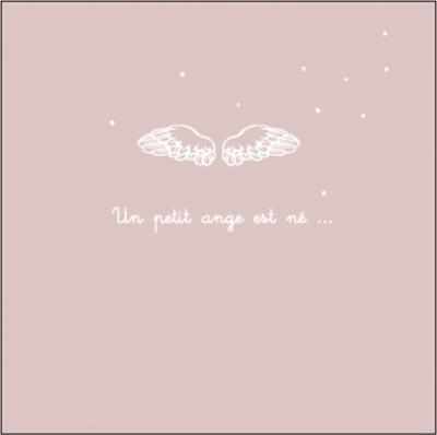 Faire part de naissance ange rose