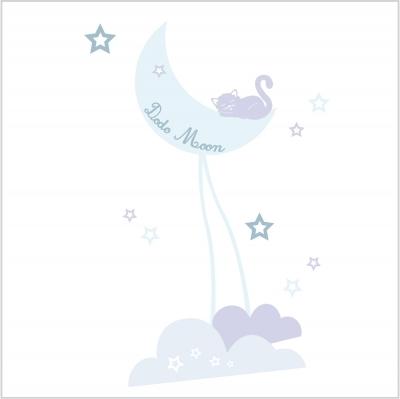 Faire part de naissance dodo moon bleu