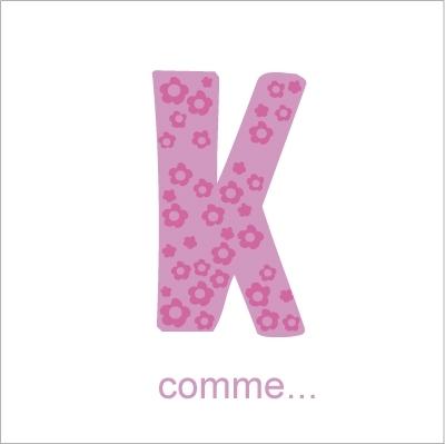 Faire part de naissance K comme Karine