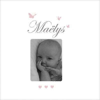 Faire part de naissance Maëlys photo