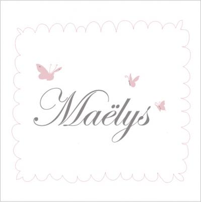 Faire part de naissance Maëlys princesse