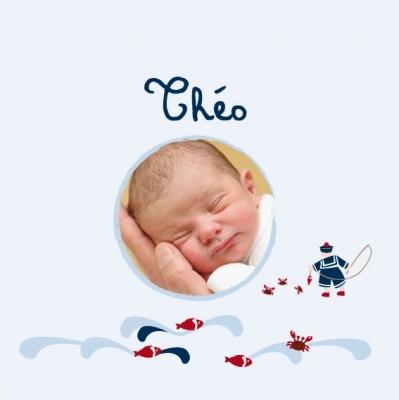 Faire part de naissance petit marin
