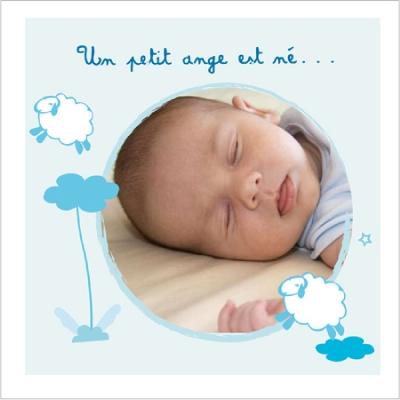 Faire part de naissance photo Allée des beaux rêves Léo