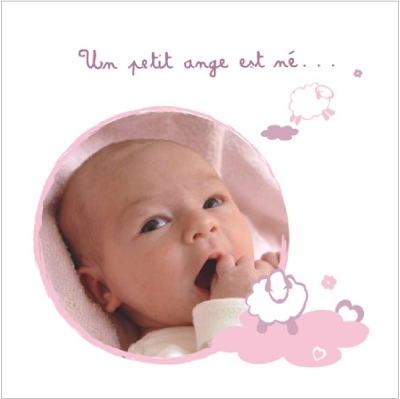 Faire part de naissance photo Allée des beaux rêves Lucie