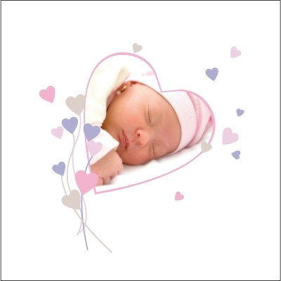 Faire part de naissance photo Amandine