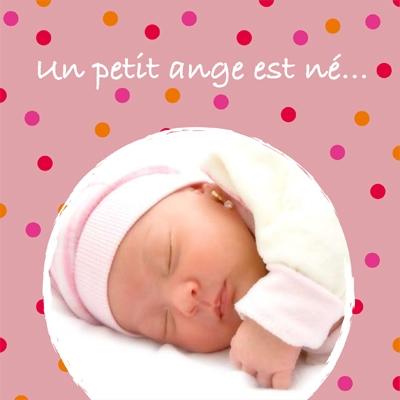 Faire part de naissance photo Emma