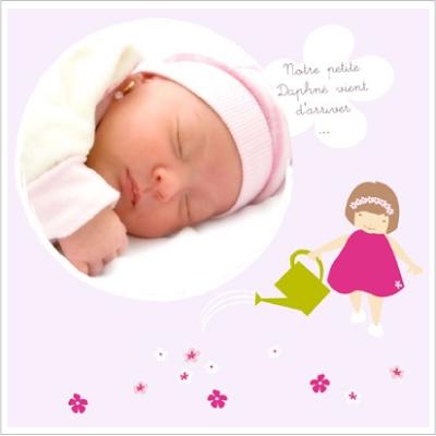 Faire part de naissance photo Jeux de fille Loriane