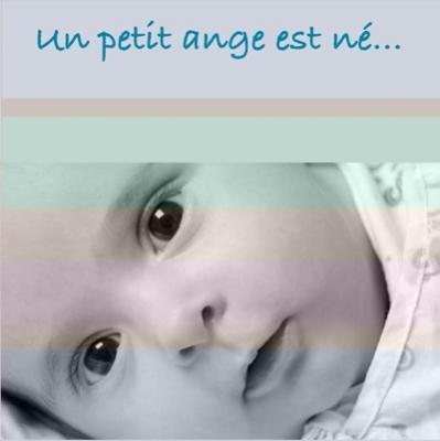 Faire part de naissance photo Julien