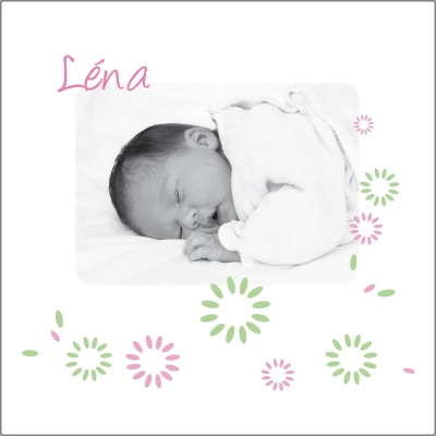 Faire part de naissance photo Léa