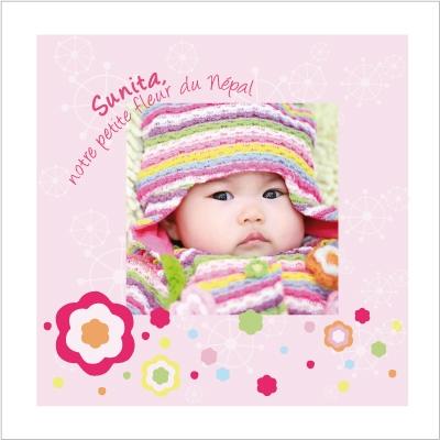 Faire part de naissance photo Sunita