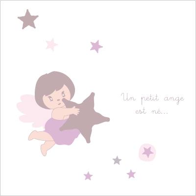 Faire part de naissance un petit ange est né