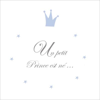 Faire part de naissance un petit prince est né