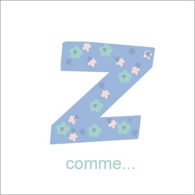 Faire part de naissance Z comme Zoé