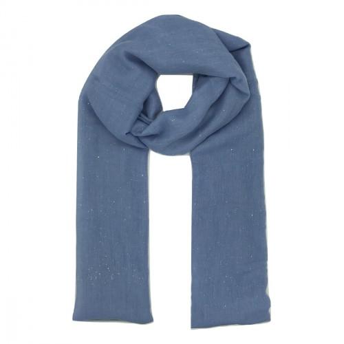 Foulard bleu ciel pailleté