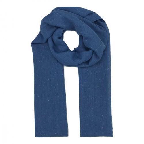 Foulard bleu pailleté