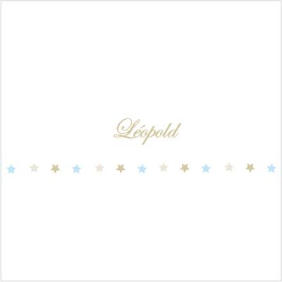 Frise étoiles beiges et bleues Léopold