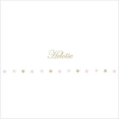 Frise étoiles beiges et roses Héloïse