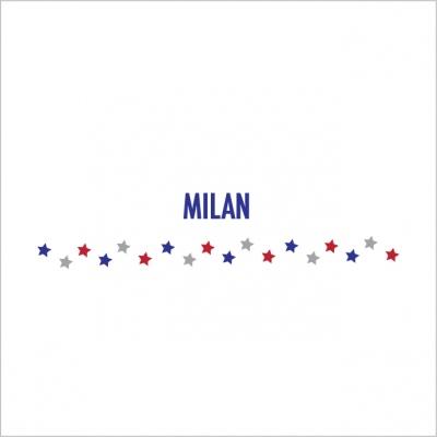 Frise étoiles bleu rouge Milan
