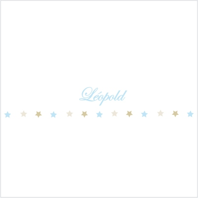 Frise étoiles bleues et beiges Léopold