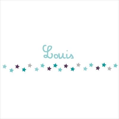 Frise étoiles étoiles bleues Louis rouleau