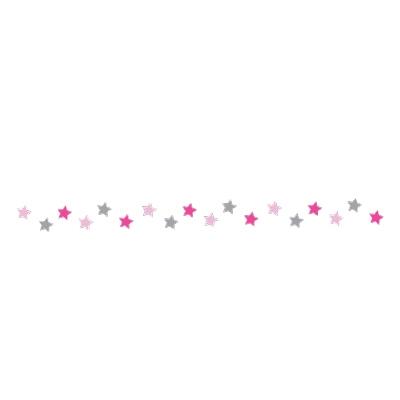 Frise étoiles rose et gris Marie