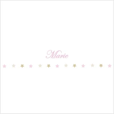 Frise étoiles roses et beiges Marie