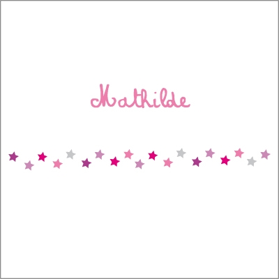 Frise étoiles roses Mathilde