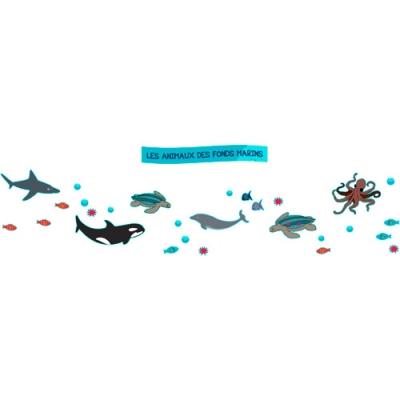 Frise Animaux Fonds marins