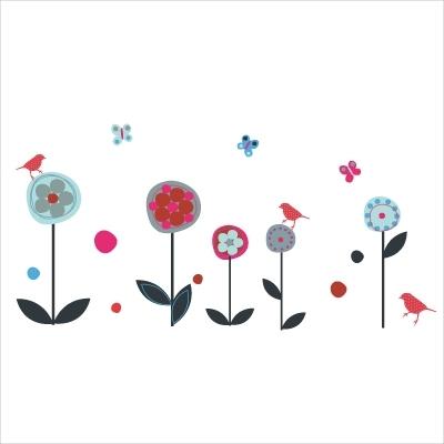 Frise oiseaux confettis